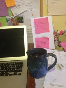 Prompt: Morning My desk!