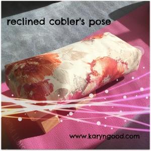 reclined cobler pose