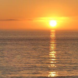 ocean, sunset, California