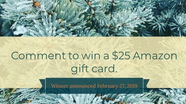 Comment to win $25 gift card. Closes February 27, 2019.
